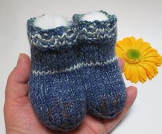 Extra thick knitted baby socks knitted baby booties von Babymaschen