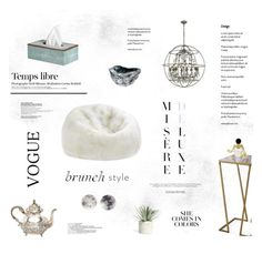 """MISTY"" by ironono ❤ liked on Polyvore featuring interior, interiors, interior design, home, home decor, interior decorating, ELK Lighting, Disney Couture, OKA and Hedi Slimane"
