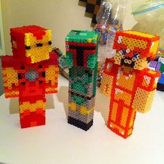 Minecraft skins perler beads by mattyperler
