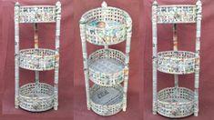 me ~ multi storage basket Diy Storage Organiser, Craft Storage, Storage Baskets, Paper Storage, Newspaper Craft Basket, Newspaper Crafts, Recycled Paper Crafts, Magazine Crafts, Paper Weaving