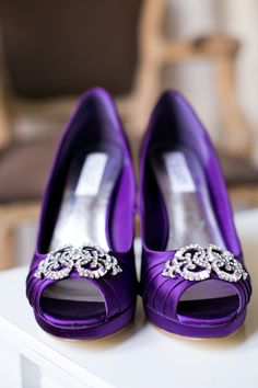 Purple wedding shoes Image by One & Only Paris Photography