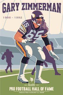 Gary Zimmerman, Vikings poster artwork for the US Bank Stadium Collection by Steve Thomas. Equipo Minnesota Vikings, Minnesota Vikings Football, Best Football Team, Nfl Football, Football Season, Nfl Hall Of Fame, Football Hall Of Fame, Nfl Photos, Sports Photos