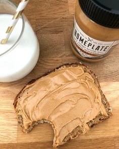 When it's love at first bite! Peanut Butter Toast, Peanut Butter Breakfast, When It's Love, Natural Peanut Butter, First Bite, Protein, Clean Eating, Eat Healthy, Healthy Eating