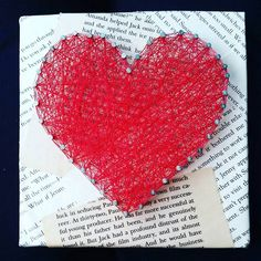 A personal favorite from my Etsy shop https://www.etsy.com/listing/258611769/book-heart-string-art-for-readers