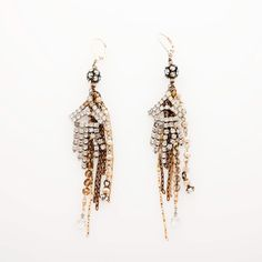 Relics Rhinestone Chain Tassel Earrings — available at Rocks & Silk at Fred Segal Santa Monica