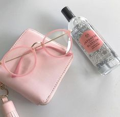 aesthetic pink pastel soft peach aesthetics weheartit korean glasses pinky вещи девичьи colors entry grunge heart visitar vibes