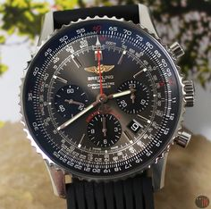 Breitling Navitimer Navitimer 01 Exclusive Edition Stratos Grey On Rubber Full Set 2018 Breitling Navitimer, Breitling Watches, Vintage Diamond, Full Set, Watch Brands, Blue Gold, Watches For Men, Steel, Luxury