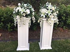 Image result for how to make DIY lighted wedding columns Wedding Hire, Diy Wedding, Wedding Events, Wedding Ceremony, Wedding Flowers, Wedding Day, Wedding Locations, Wedding Table, Weddings