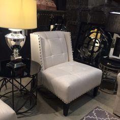 Triton Chair #andrewmartin #chair #interiordesign #decor #fabric #textile #tufted #sidechair #studs