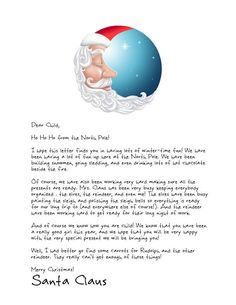 Our Sleepy Santa is the perfect printable Letter from Santa for Christmas Eve! Letters from Santa || www.easyfreesantaletter.com