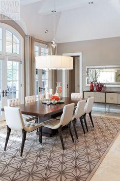 The Elegant Abode LI Dining Room Glam dining room, crystal ...