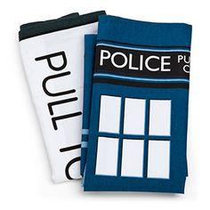 Doctor Who TARDIS Tea Towels