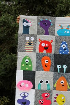 These fun monsters are terrific! Pattern: Mix & Match Monsters from Shiny Happy World