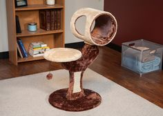 IRIS 2-Tier Cat tree Small Cat Tree Cat Scratching Post Cat Furniture Beige