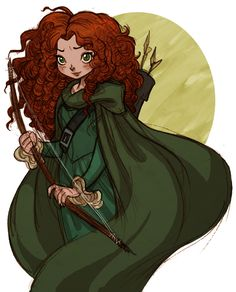 Princess Merida on deviantART- why does their have to be so many awesome fan art of Merida?! <3