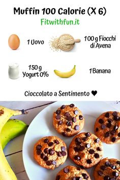 100 Calorie, Banana Protein Muffins, Sweet Recipes, Healthy Recipes, Banana Recipes, No Bake Desserts, Food Porn, Food And Drink, Snacks