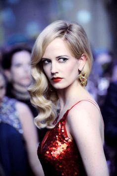 """Eva Green - """"Dark Shadows"""" Shouldn't work as a blonde, but really really does!!"""