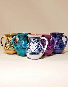 Moroccan bazaar  #boho #Moroccan #home Ceramic Pitcher, Ceramic Tableware, Ceramic Teapots, Kitchenware, Moroccan Furniture, Moroccan Decor, Moroccan Style, Turquoise Kitchen Decor, Boho Kitchen