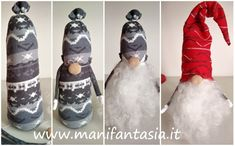 come fare gnomi in feltro e pannolenci - manifantasia Christmas Fabric Crafts, Christmas Decorations, Gnome Ornaments, Herb Garden Design, Christmas Gnome, Fabric Dolls, Holidays And Events, Diy And Crafts, Tabata