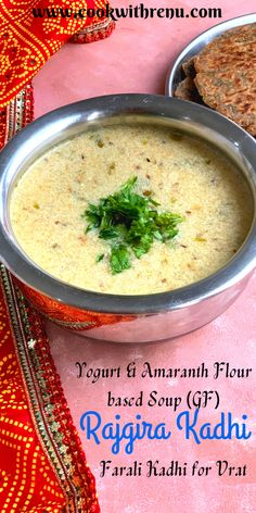 Rajgira or Amaranth flour kadhi is a simple, quick, and delicious kadhi/soup made using Rajgira flour and Yogurt/curd #vegetaraian #satvik #glutenfree #soup #kadhi #amaranth #rajgira #millets #meal #comforting #easy #quick #yogurt #delicious #recipes #yummy #glutenfreeflour #glutenfreesoup #vrat #upvas #farali # fasting #Indianfastingfood #food Amaranth Recipes, Gluten Free Soup, Healthy Food, Healthy Recipes, Flour Recipes, Delicious Recipes, Glutenfree, Yogurt, Onion