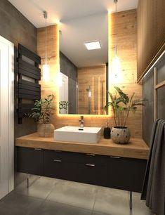 jozefow-lazienki-1 Bathroom Design Luxury, Modern Bathroom Decor, Bathroom Design Small, Home Interior Design, Very Small Bathroom, Master Bathroom, Douche Design, Bathroom Design Inspiration, Kitchen Inspiration