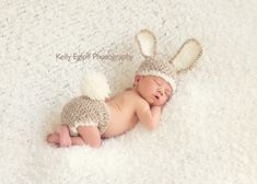 Baby Bunny Hat and Diaper Cover SetNewborn by HatAndColdCrochet, $51.00  OMG I COULD DIE!!