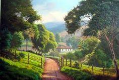 Resultado de imagem para george pergentino Cottage Art, Painting Lessons, Natural, Vineyard, Paradise, Country Roads, Fantasy, Adventure, Antiques