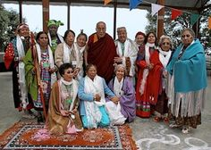 His Holiness meeting with the 13 Indigenous Grandmothers - we were able to met the Grandmothers and attend one of their wonderful retreats a few years ago.