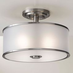 Have to have it. Feiss SF251BS Casual Luxury Ceiling Light - 13W in. Brushed Steel - $200 @hayneedle