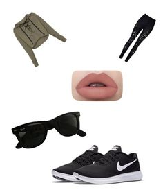 """'Going for a jog run outfit'"" by thegamingcookie on Polyvore featuring NIKE and Ray-Ban"