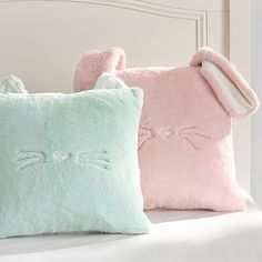 Cozy Luxe Critter Pillow Covers #pbteen - dark mint cat