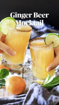 Easy Alcoholic Drinks, Fun Drinks, Healthy Drinks, Non Alcoholic Drinks With Ginger Beer, Easy Mocktails, Lime Drinks, Gold Drinks, Party Drinks, Summer Drinks