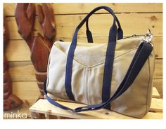 Mens Canvas Weekend Bag by #Minka  Made in #kennebunkport Maine