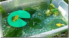 Frog printables and sensory bin