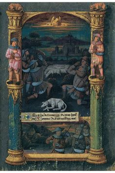 Livre d'heures de Louis d'Orléans - réalisé à Bourges en 1489-90, dans l'entourage de Jean Colombe - Bibliothèque nationale de Russie, Saint-Pétersbourg - Lat. Q.v.I.126 - 1490