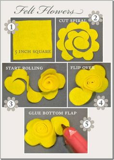 Getting Crafty Diy Paper Crafts diy paper craft christmas decorations Cute Crafts, Crafts To Do, Felt Crafts, Fabric Crafts, Sewing Crafts, Diy Crafts, Felt Flowers, Diy Flowers, Fabric Flowers