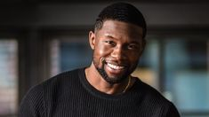 Our first impression of Black, the character played by Trevante Rhodes in the coming-of-age film Moonlight, is that he's still haunted by the traumas of his chi… Shane Black, Black Men, Rhodes, Predator, New Cinema, Hollywood Men, Super Soldier, Celebrity List, Beard No Mustache