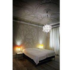 Bedroom light casts amazing shadows