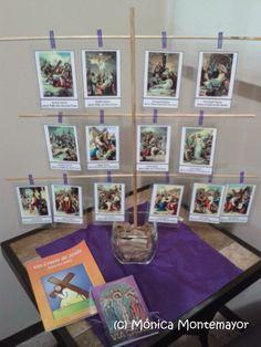 Familia Católica: Árbol de madera para desplegar las Estaciones de la Cruz