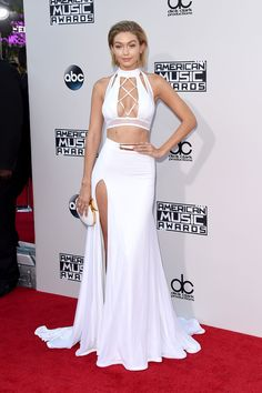Gigi Hadid on the American Music Awards red carpet.