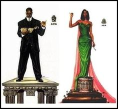 This picture represents the first Black Greek sorority and fraternity and they are considered brother and sister.