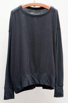 Black Gauze Pullover // Raquel Allegra