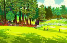 Image of The Masters 2nd Hole Giclée Print by Nathan Fox