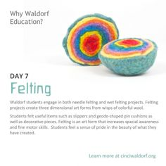 """Felting""    Things We Love About Waldorf Education"