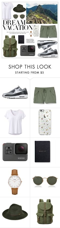 """""""#PolyPresents: Dream Vacation the Peruvian holiday"""" by harryvimes ❤ liked on Polyvore featuring NIKE, Gap, prAna, GoPro, CLUSE, Ray-Ban, Barbour, Herschel Supply Co., contestentry and polyPresents"""