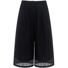 Edit - Culottes ($360) ❤ liked on Polyvore featuring pants, capris, cropped capri pants, sheer pants, crop pants, see through pants and cropped trousers