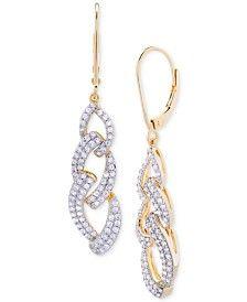 21469efa7f7 Diamond Link Bolo Bracelet (1 ct. t.w.) in 14k Gold-Plated Silver ...