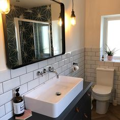 Small Downstairs Toilet, Small Full Bathroom, Small Shower Room, Small Toilet Room, Bathroom Design Small, Bathroom Layout, Bathroom Ideas, Sinks For Small Bathrooms, Small Rustic Bathrooms