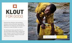 Klout for Good Charity: water