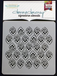 donna downey signature stencils - small pods